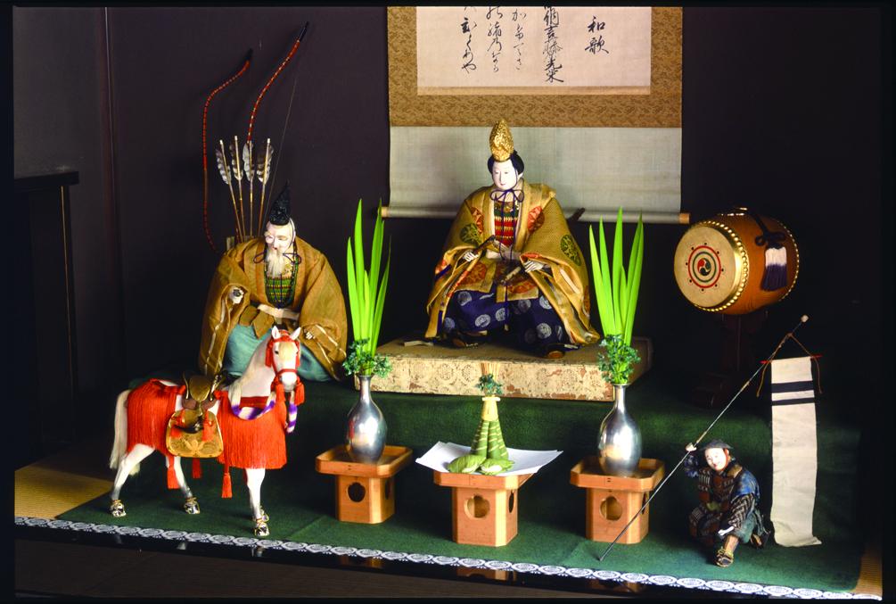 Photo: Tokokazari of Oujin Tenno with Takeuchi-no-Sukune